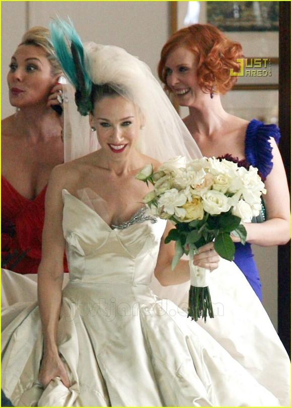 Chasing camelia daughter sister fiancee shopaholic for Sarah jessica parker wedding dress